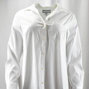 !~Crisp Bright White Long Sleeve Button Up Shirt~!